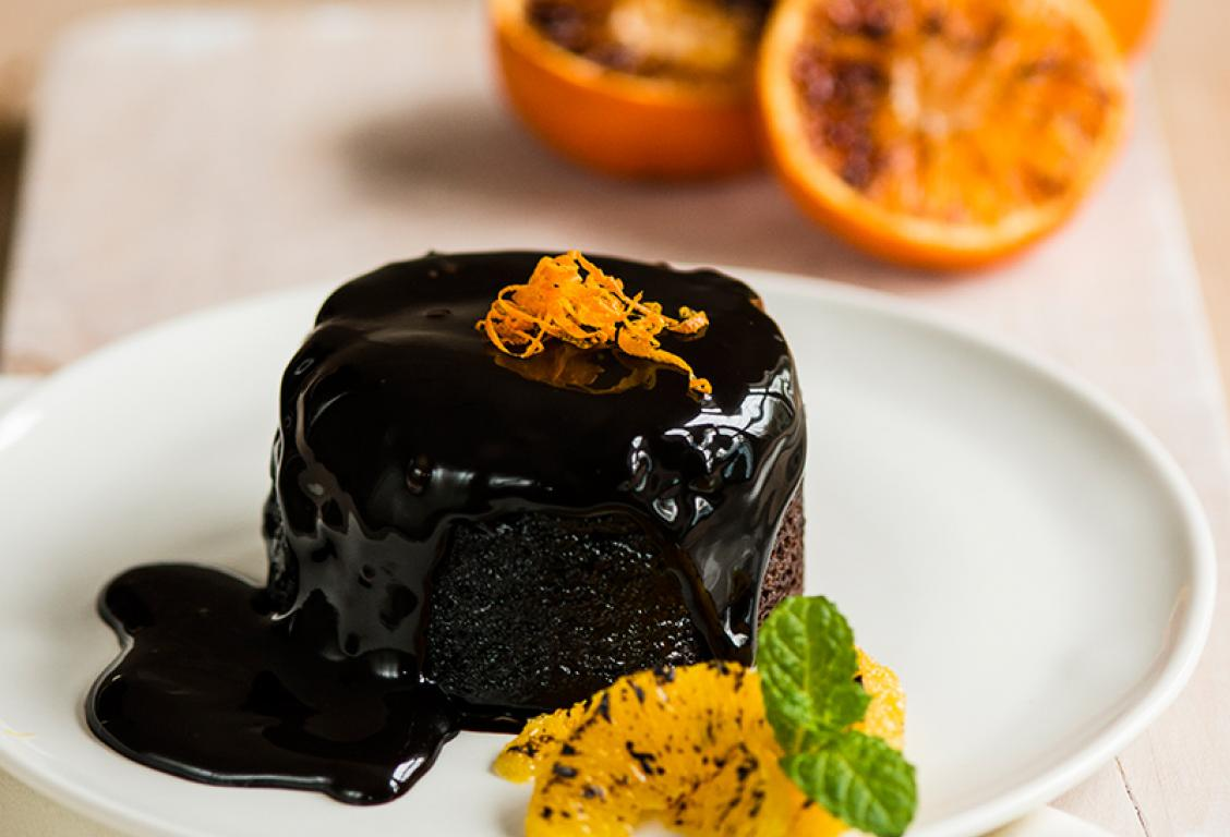 Chocolate Orange Sponge Pudding