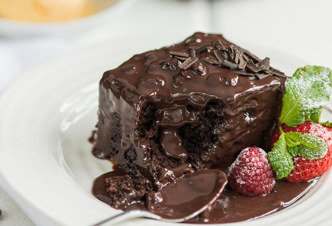 Square Chocolate Pudding