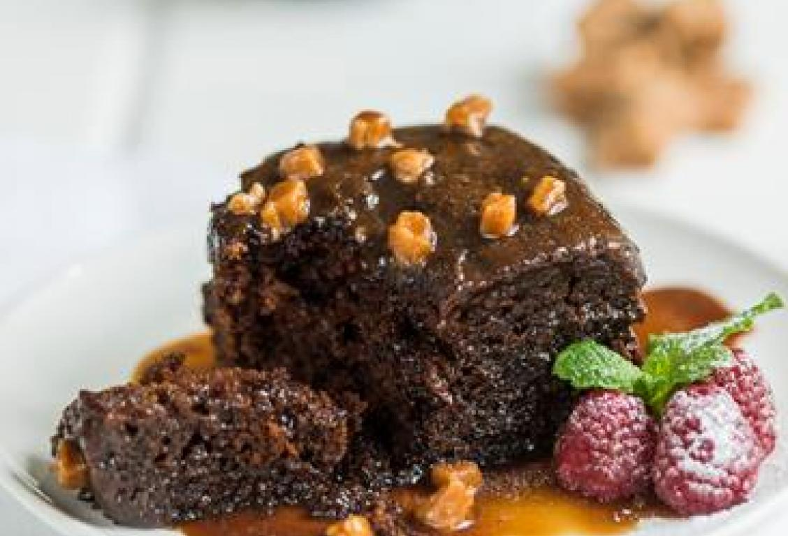 Square Sticky Toffee Pudding with Rich Toffee Sauce