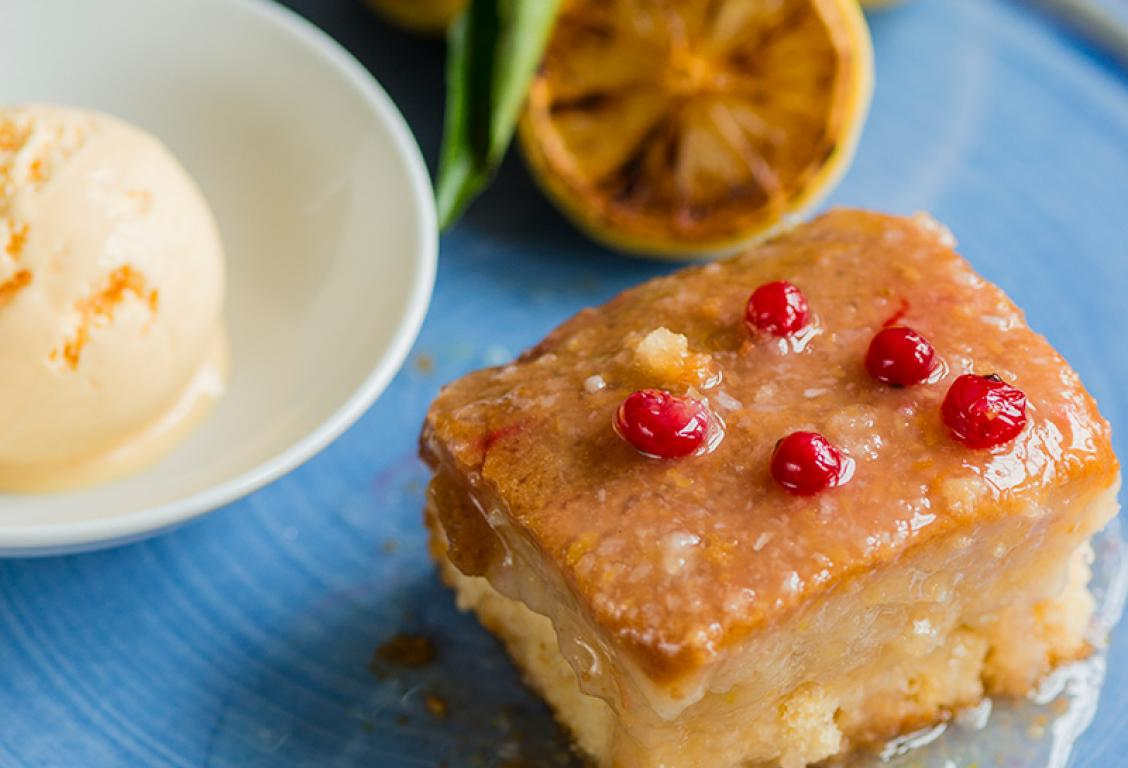 Square Sicilian Lemon Pudding